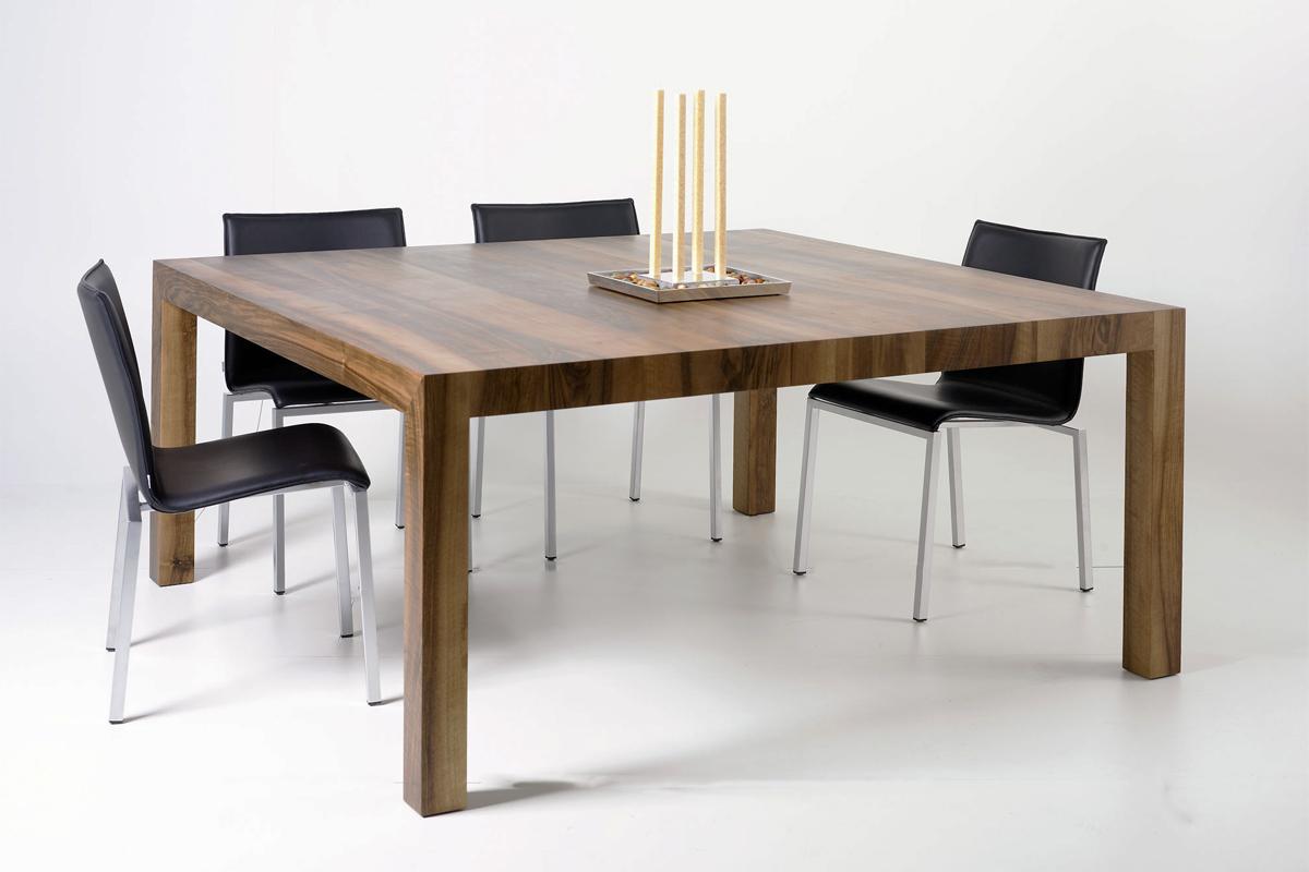 tisch secco quadratisch nussbaum auf das wesentliche reduziert. Black Bedroom Furniture Sets. Home Design Ideas
