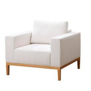 Sessel mit Holzgestell «Serafin»