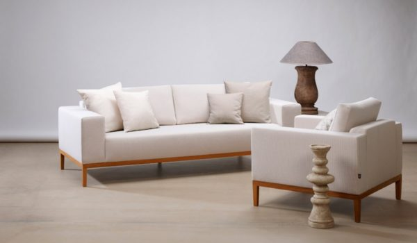 Sofa mit Holzrahmen «Serafin»