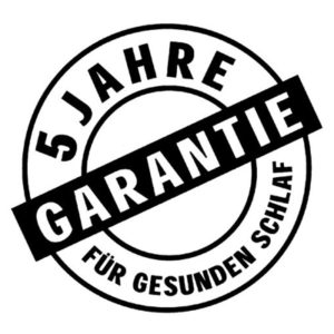 DORMIENTE 5-Jahre-Garantie