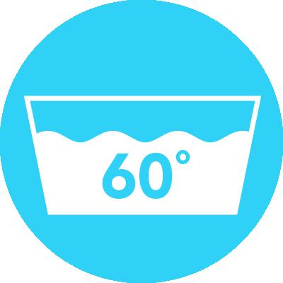 Icon waschbar bei 60°