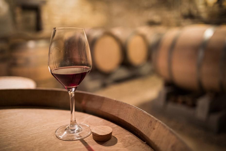 Guter Wein wird wegen der Gerbsäure in einem Eichen-Barrique gelagert
