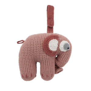 SEBRA_Häkel-Spieluhr,-Fanto-der-Elefant,-blossom-pink