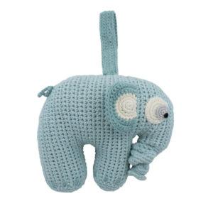 SEBRA_Häkel-Spieluhr,-Fanto-der-Elefant,-lagoon-blue
