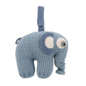 SEBRA_Häkel-Spieluhr,-Fanto-der-Elefant,-powder-blue