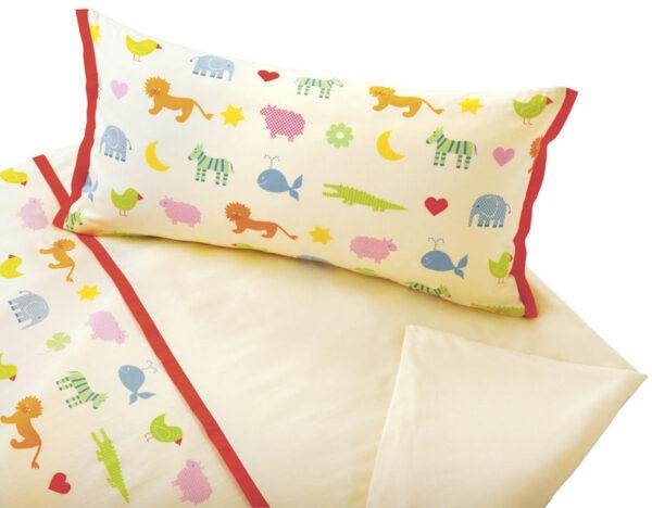 COTONEA_CAN1_Kinderbettwaesche-Bio-Baumwollsatin-Tiermotive-Arche-Noah-Garnitur