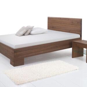 LUXLET_Massivholzbett_Laura-Premium-Gravity-3° schräg-mit-Nachttisch