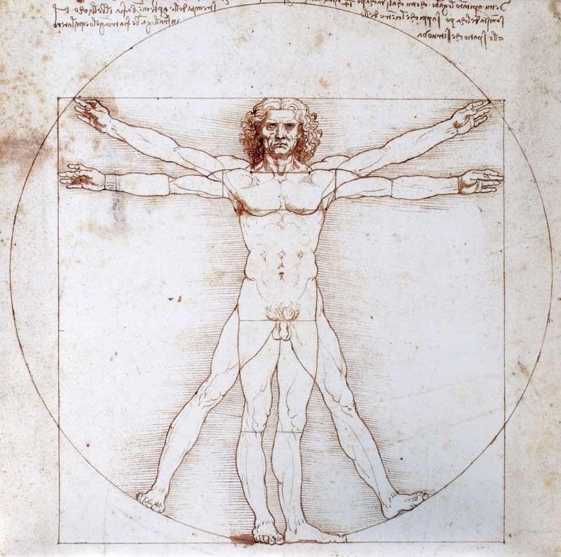 Leonardo Da Vincis berühmtem Bild «der vitruvianische Mensch»